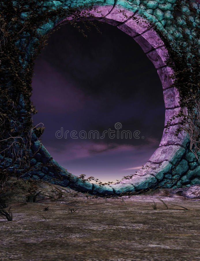 Fantazja portal ilustracja wektor
