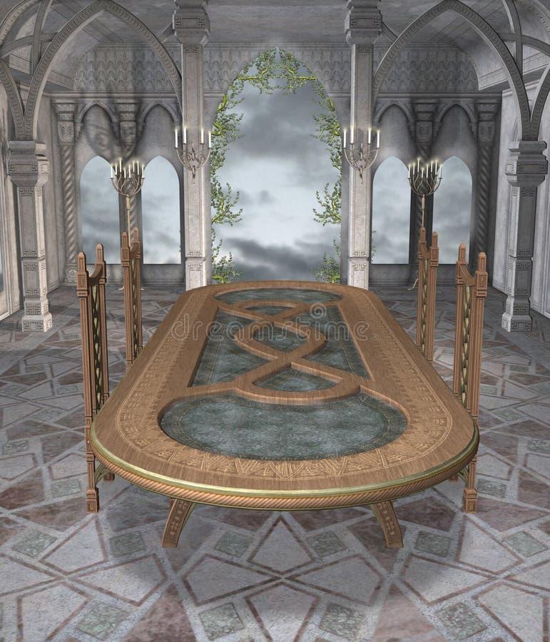 Download Fantazja TARGET390_0_ Pokój Ilustracji - Ilustracja złożonej z marmurkowaty, stół: 13338524