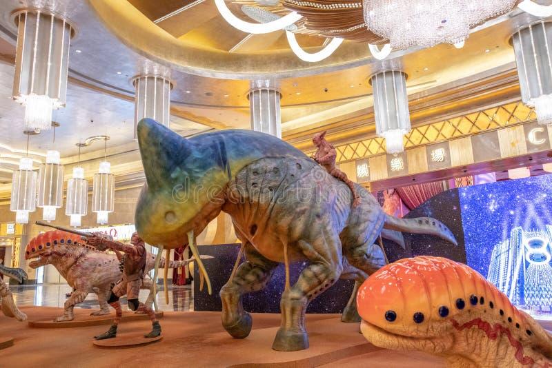 Fantazja w kuluarowym hotelowym kurorcie Macau, pracowniany miasto fotografia royalty free