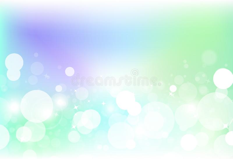 Fantazji bokeh plamy bąbla kolorowy powietrze z gwiazda pyłu błyskotliwością s ilustracja wektor