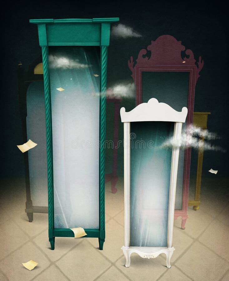 Fantazji lustro ilustracji