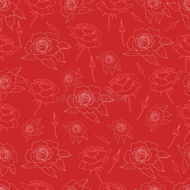 Fantazji róż tekstura royalty ilustracja