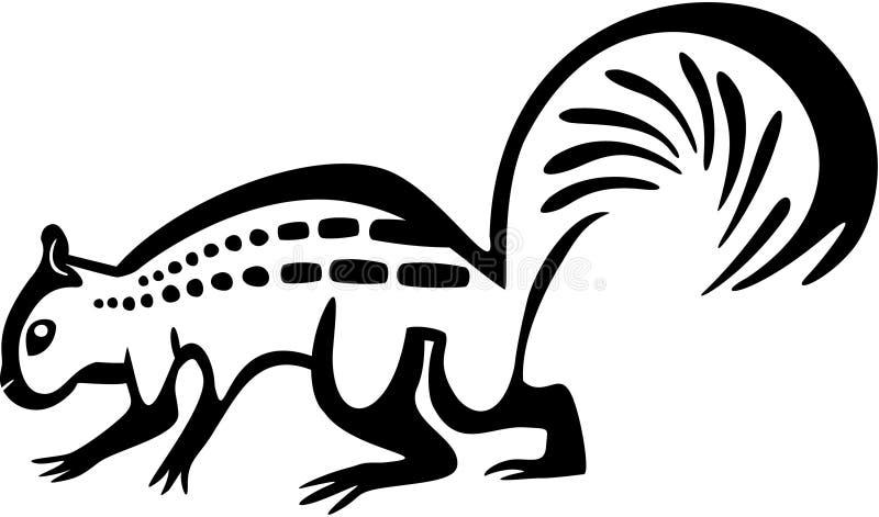 Fantazjująca wiewiórka ilustracja wektor