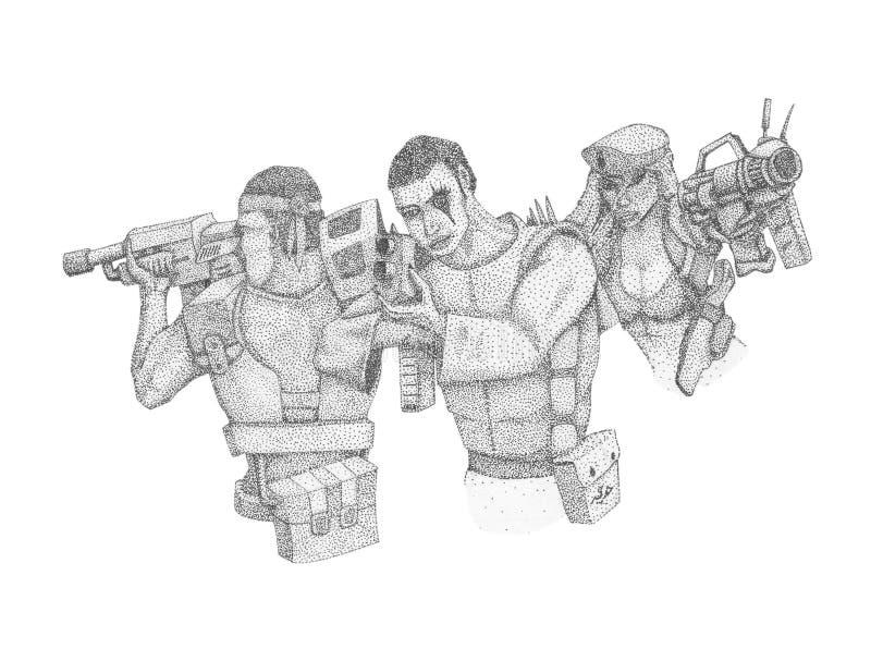 Fanti di marina dello spazio royalty illustrazione gratis