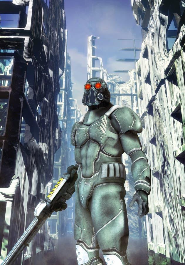 Fanti di marina futuristici dello spazio del soldato royalty illustrazione gratis