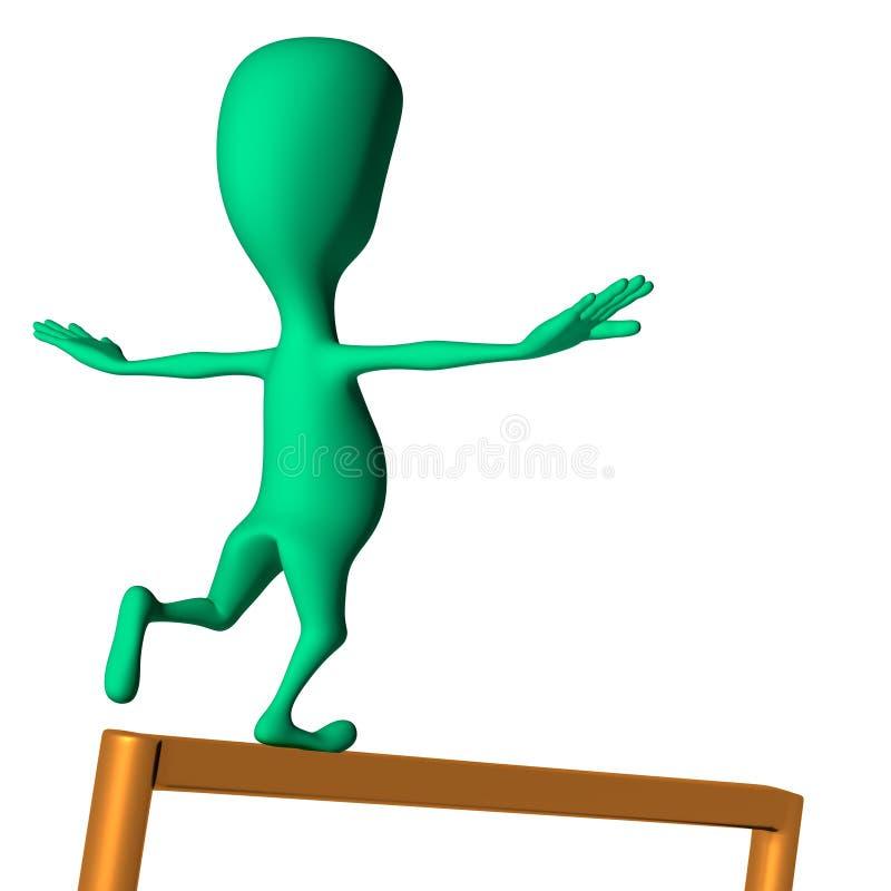 Download Fantoche 3d Que Faz Os Movimentos Na Nota Ilustração Stock - Ilustração de divertimento, arte: 26501598