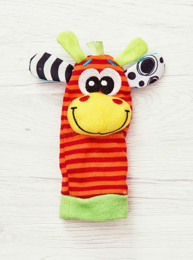 Fantoche de mão colorido, brinquedo engraçado foto de stock royalty free