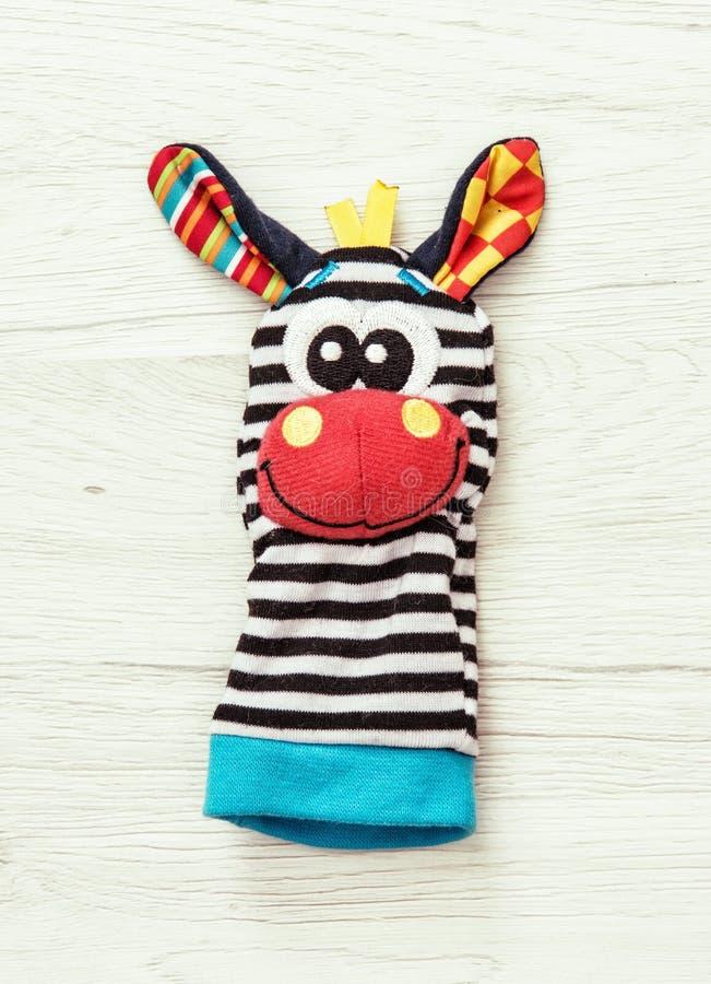 Fantoche de mão engraçado, brinquedo da beleza imagem de stock royalty free