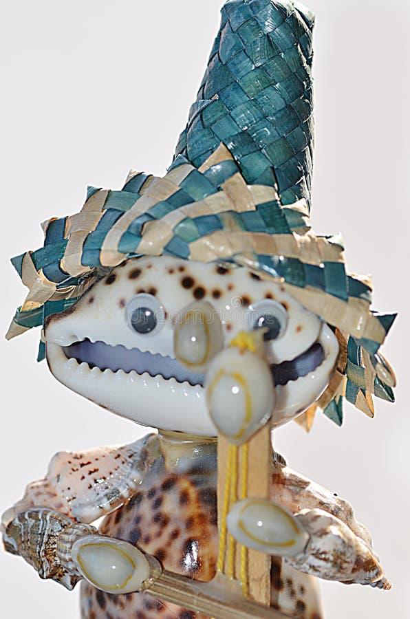 Fantoche feito das conchas do mar imagens de stock