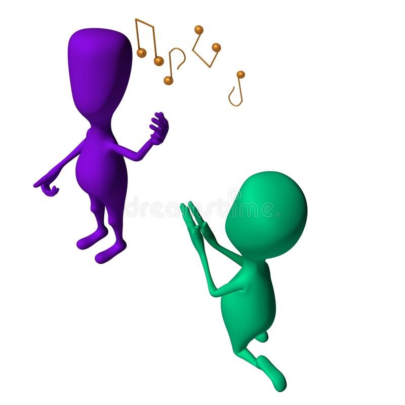 Download Fantoches 3d Diferentes Que Cantam E Que Imploram Outros Ilustração Stock - Ilustração de imitar, sumário: 26501611