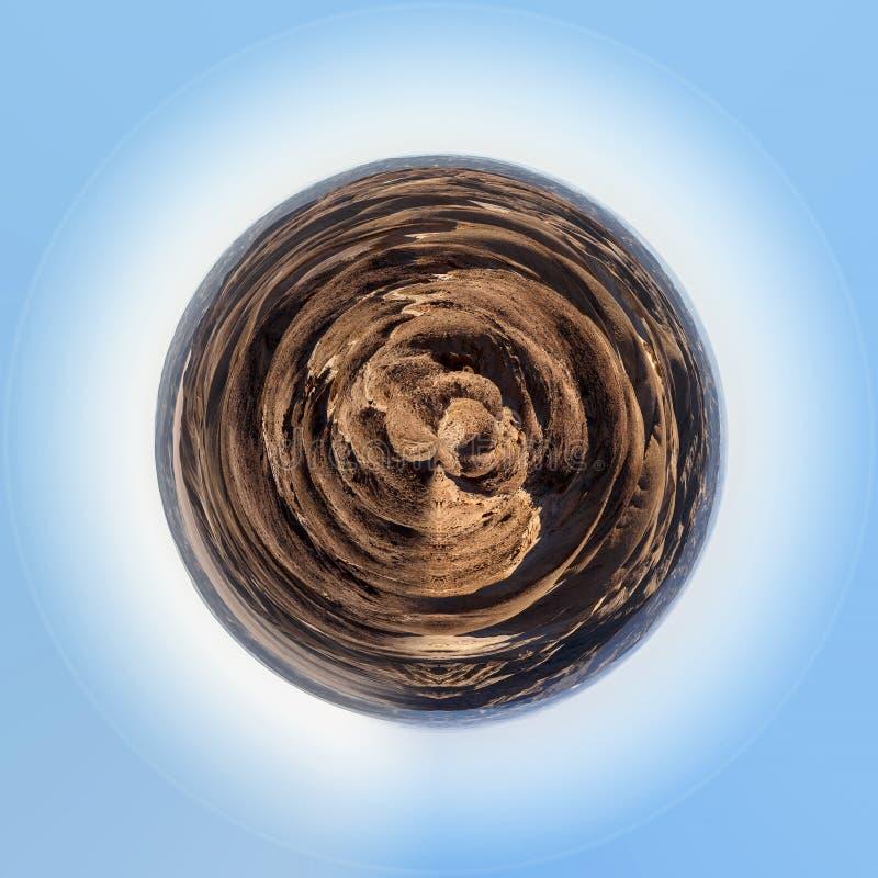 fantrastic纳米比亚moonscape风景行星  免版税库存图片