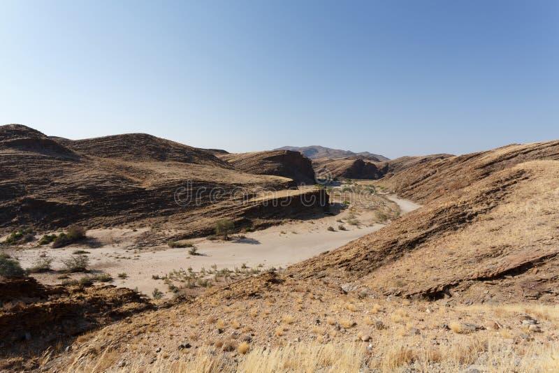 Fantrastic Namibia moonscape krajobraz obrazy stock