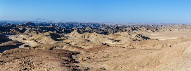 Fantrastic Namibia moonscape krajobraz, Eorngo obraz stock