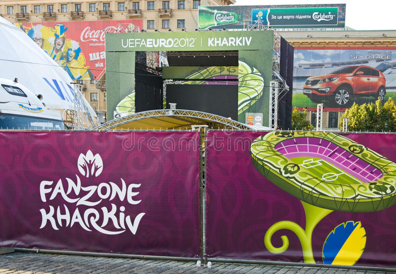 FANZONE In Kharkov, Ukraine. EURO-2012 Editorial Photo