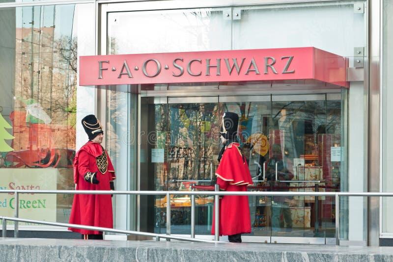 FAO Schwarz Toy Story New York City fotos de archivo