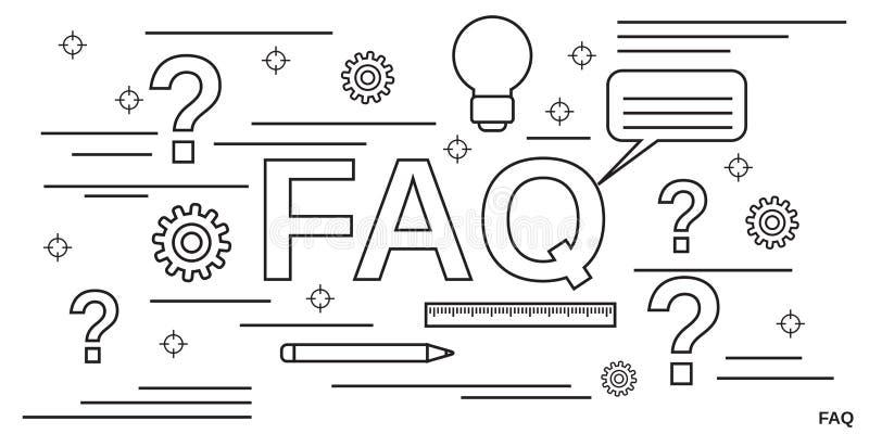 FAQ, οδηγός χρηστών, διδακτική διανυσματική έννοια απεικόνιση αποθεμάτων