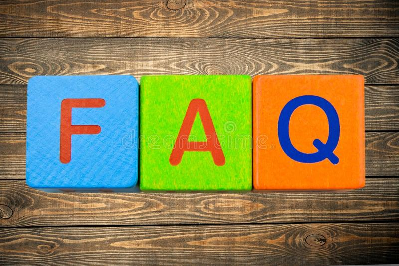 FAQ photo stock