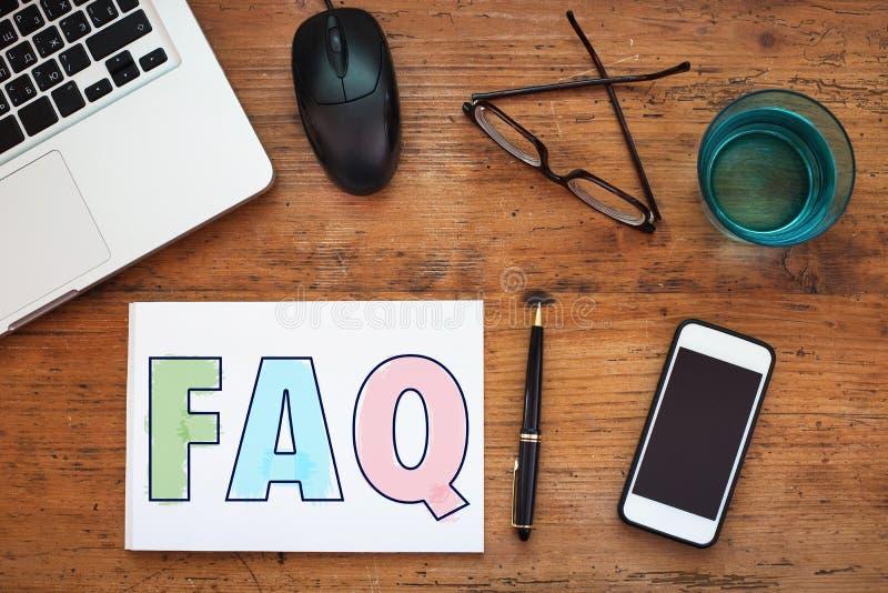 FAQ arkivfoto