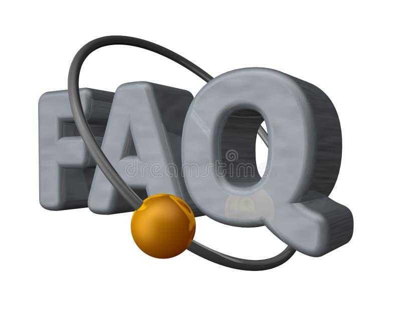 Download Faq stock illustration. Image of symbol, questions, sign - 13026603