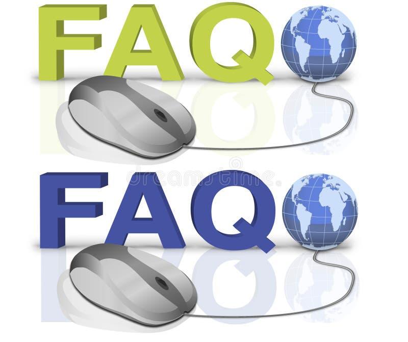 FAQ illustrazione vettoriale