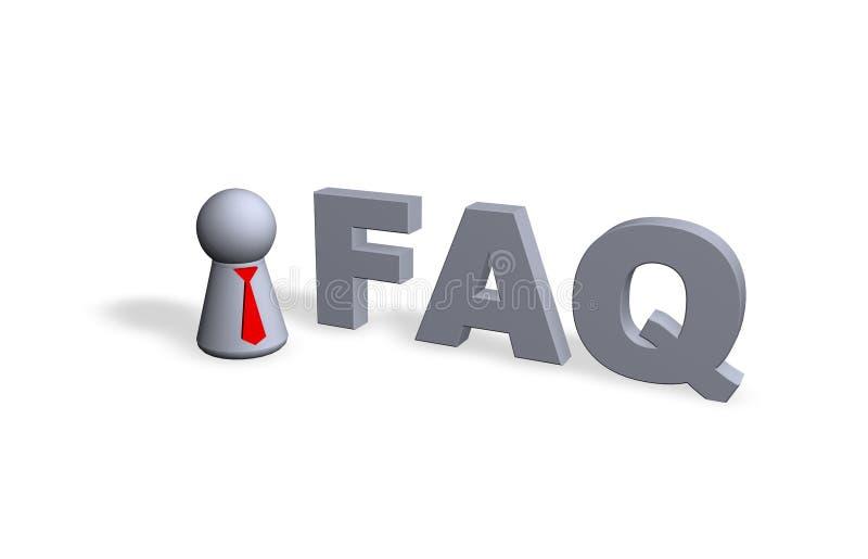 FAQ ilustração royalty free