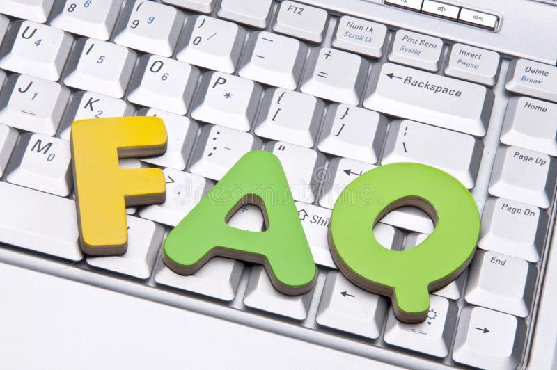 FAQ stock afbeeldingen