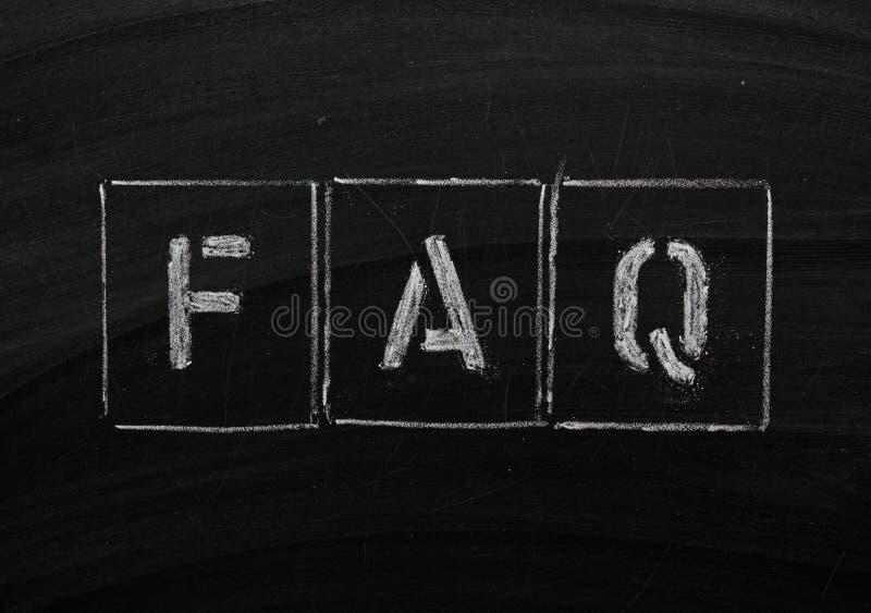 Download FAQ stock image. Image of board, chalk, question, blackboard - 15439855