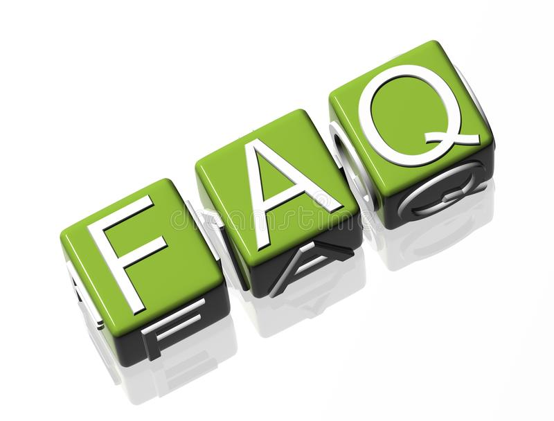 faq stock illustrationer