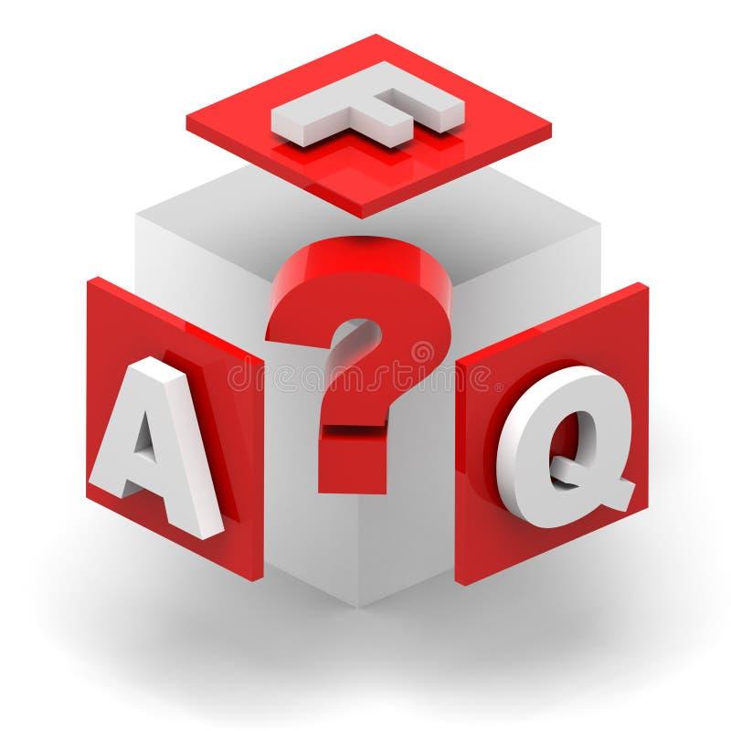 FAQ stock illustratie