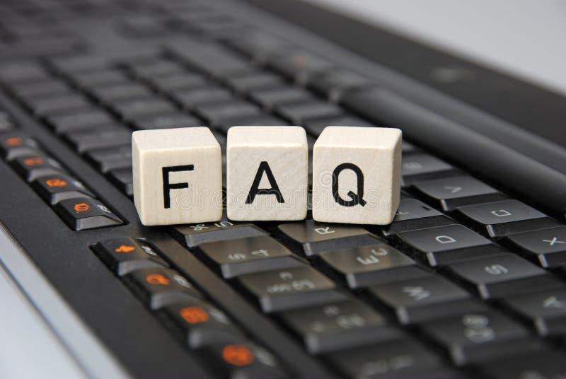 FAQ fotos de archivo