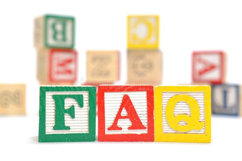FAQ royalty free stock photography