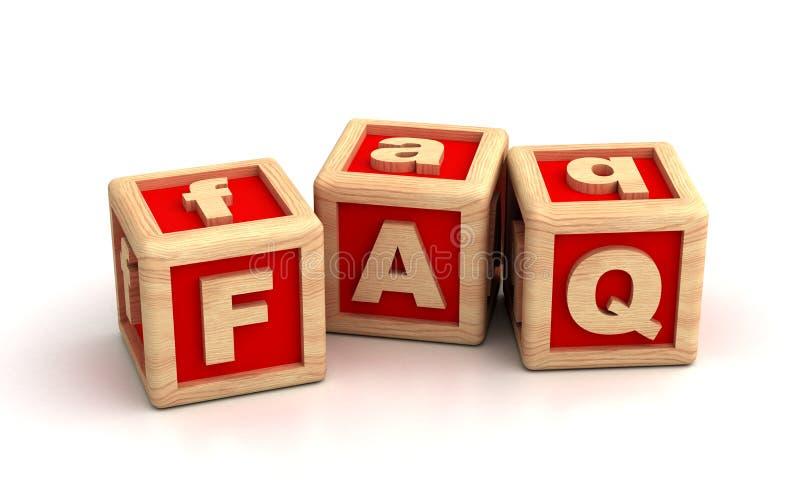 FAQ. Blocks ( Computer Generated Images royalty free illustration