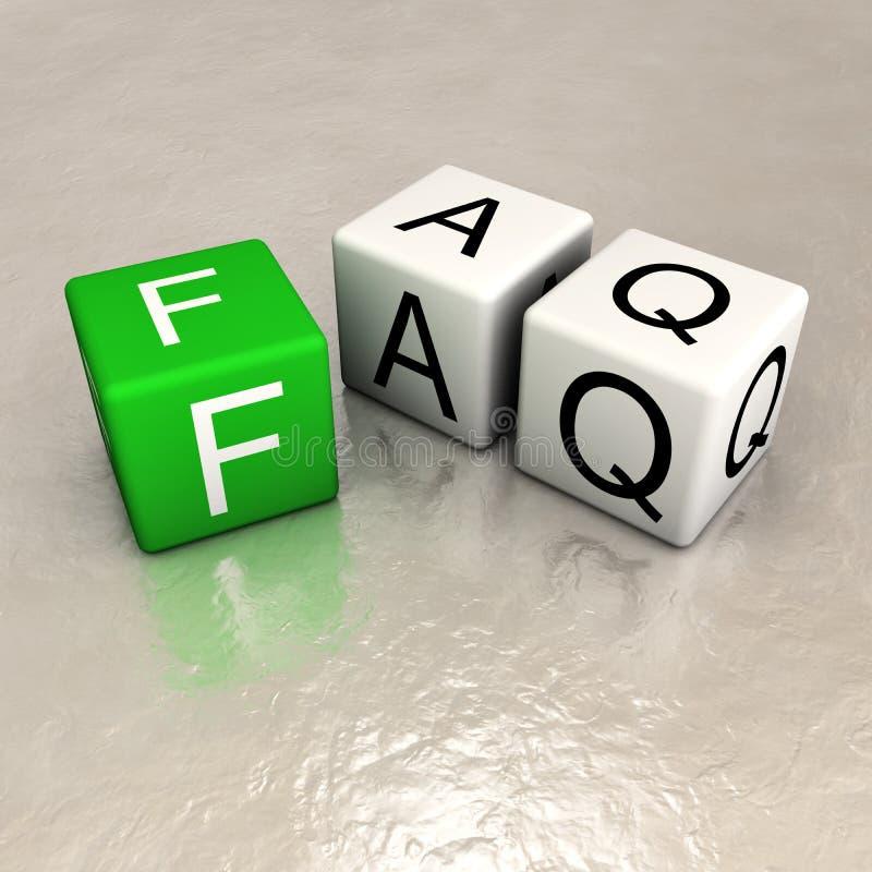 FAQ vektor abbildung