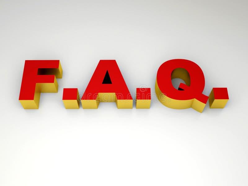 FAQ photographie stock