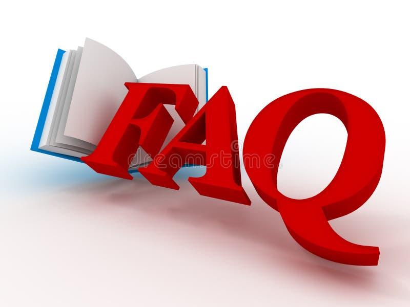 FAQ. 3d illustrazione di stock
