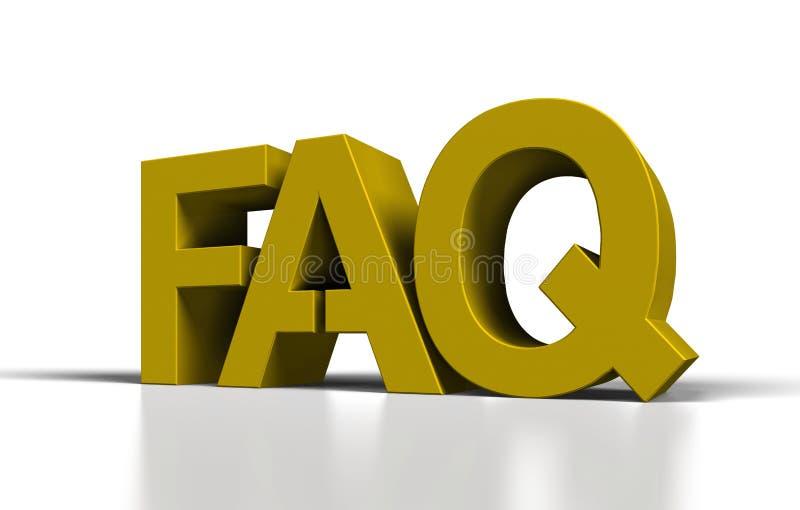 FAQ lizenzfreie abbildung