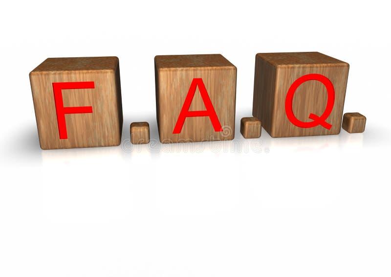 FAQ illustration stock