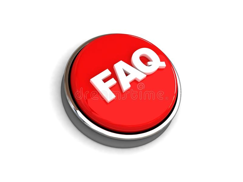 Faq button stock illustration