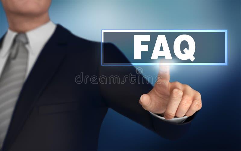 FAQ che spinge l'illustrazione di concetto 3d fotografia stock libera da diritti