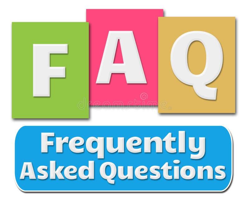 FAQ Colorful Stripes stock illustration