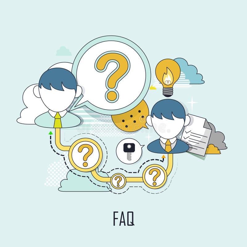 FAQ concept stock illustration