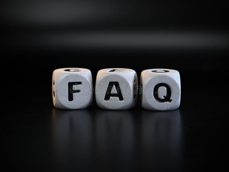 FAQ concept, Frequently Asked Questions royalty free stock image