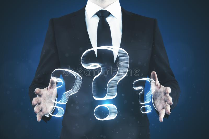 FAQ and confusion concept royalty free stock image