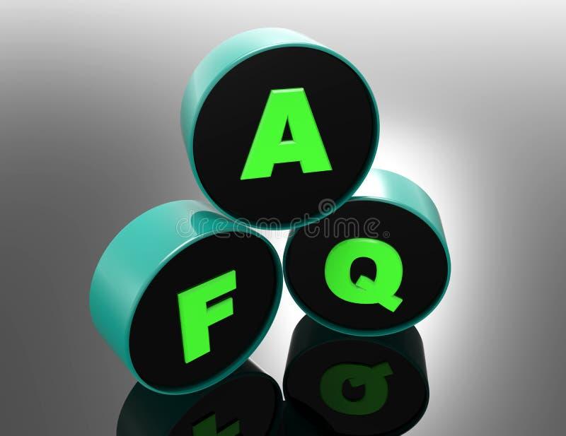 FAQ 3d słowa pojęcie ilustracji