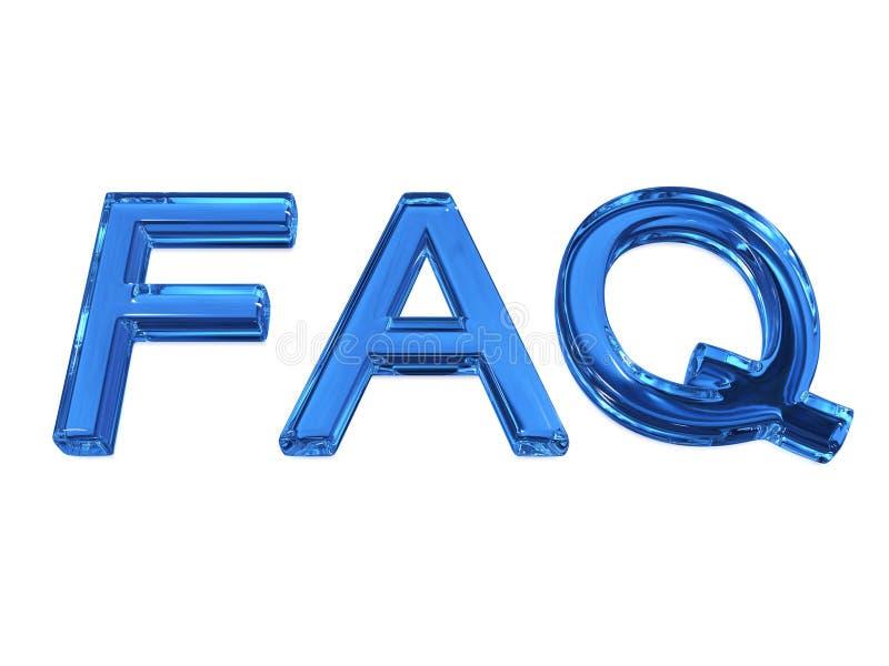 FAQ de la abreviatura stock de ilustración