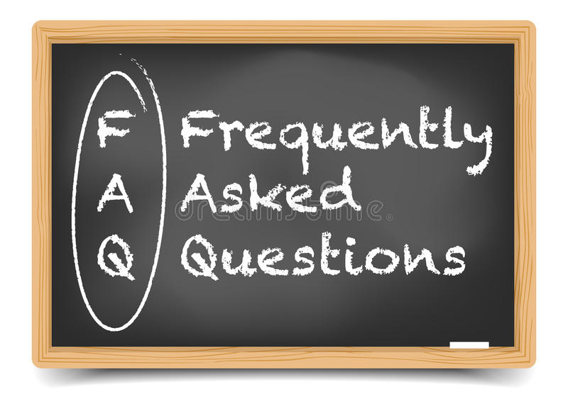 FAQ de tableau noir illustration libre de droits