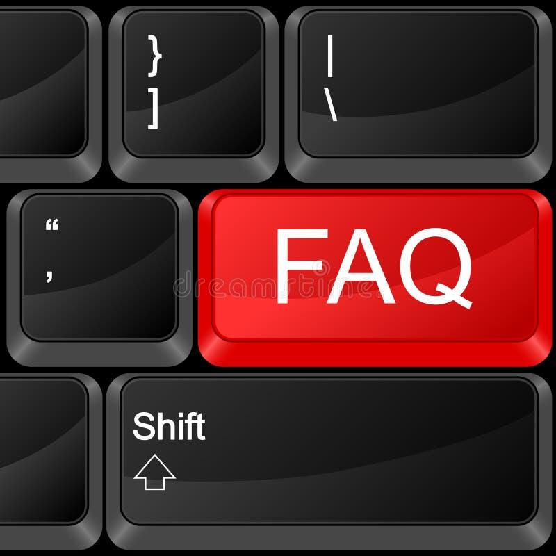FAQ del tasto del calcolatore royalty illustrazione gratis