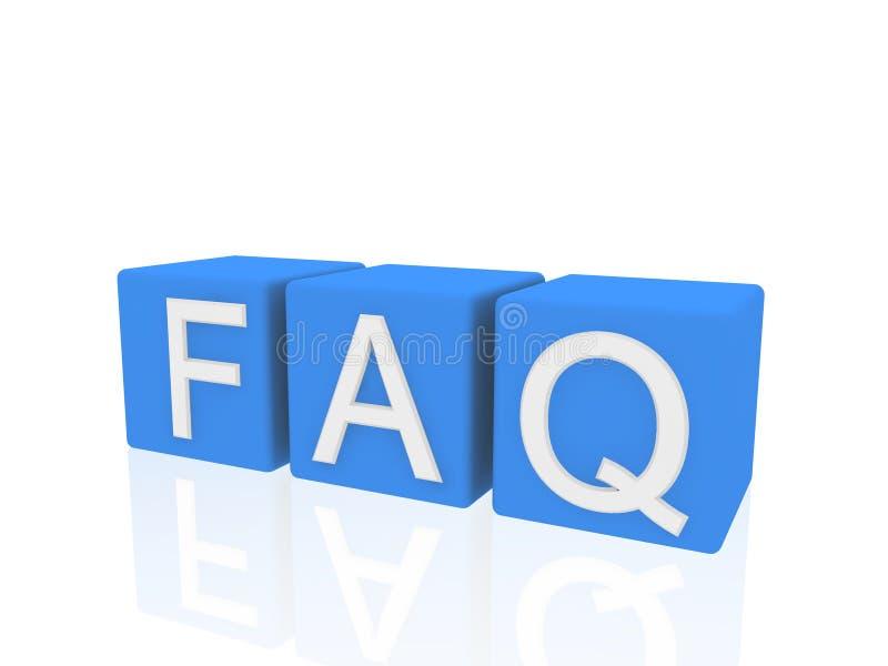 FAQ delle caselle illustrazione di stock