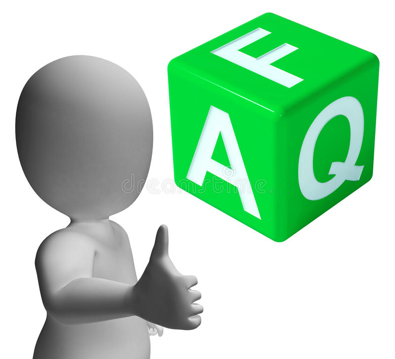 Faq Dice As Sign For Information Or Assisting stock illustration