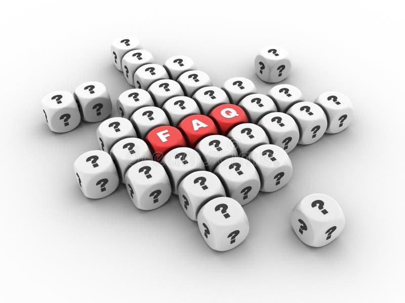 FAQ et question Mark Crossword illustration de vecteur